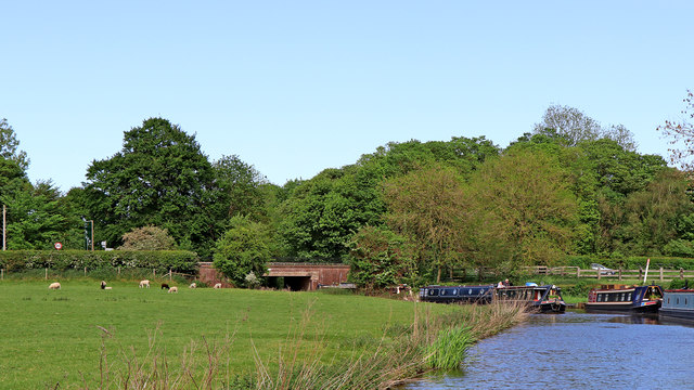 Trent and Mersey Canal near Bishton in Staffordshire