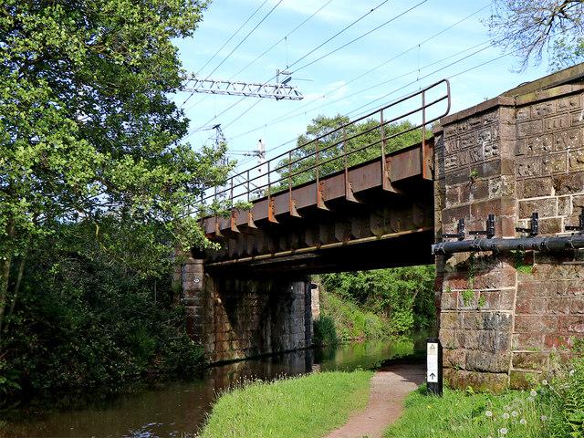 Bridge across the canal near Little Haywood in Staffordshire