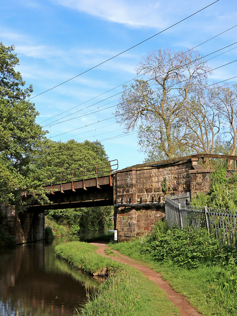 Trent and Mersey Canal near Little Haywood in Staffordshire