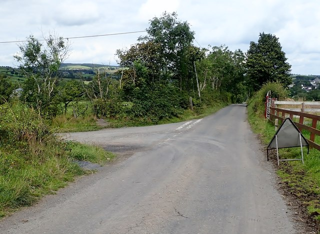 Junction with unnamed road on the Old Road SW of Newtownhamilton