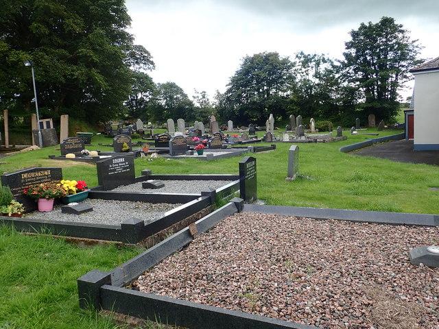 The graveyard of the 2nd Newtownhamilton Presbyterian Church