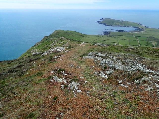 Mynydd Enlli ridge