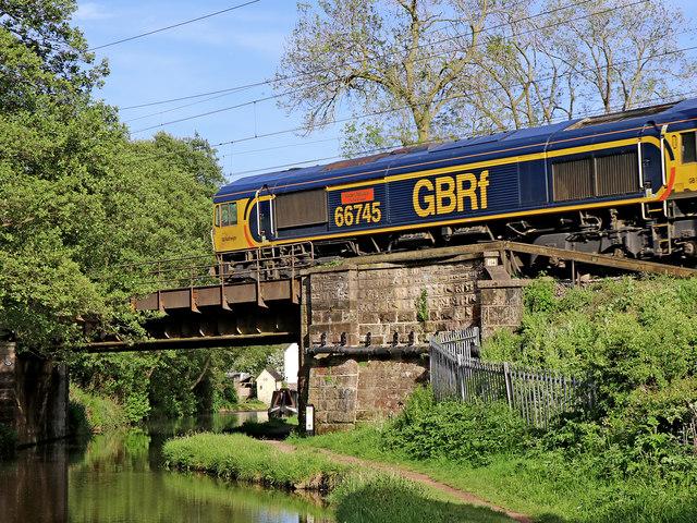 Canal bridge near Little Haywood in Staffordshire