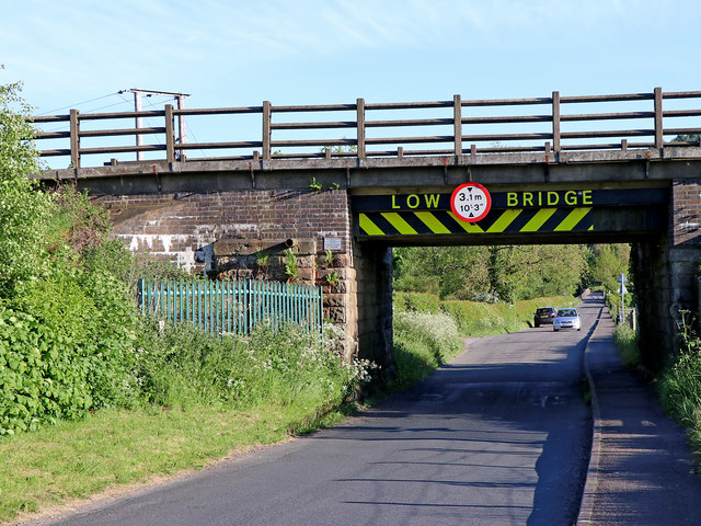 Bridge over Meadow Lane near Little Haywood, Staffordshire
