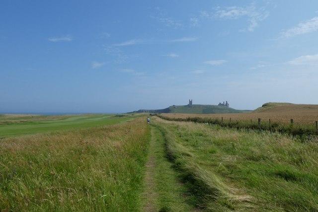 Coastal path on Dunstanstead Links