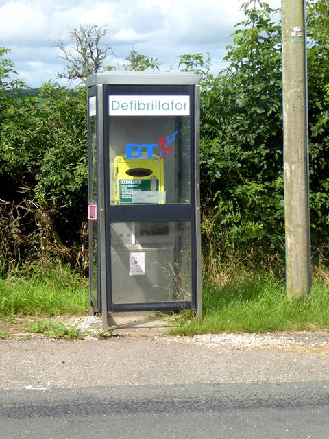 Uses for an old telephone box at Burrells