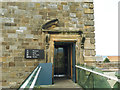 NZ9011 : Whitby Abbey: museum entrance by Stephen Craven