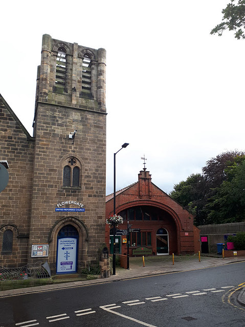 Tower of the URC church, Flowergate, Whitby