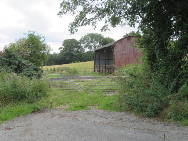 Old barn opposite Yew Tree Farm in Tir-y-Fron Lane