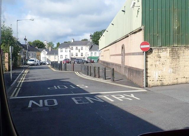 The junction of Newry Street and Shamble Lane, Newtownhamilton