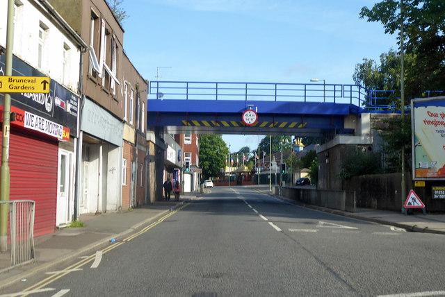 Railway bridge over Aldershot High Street