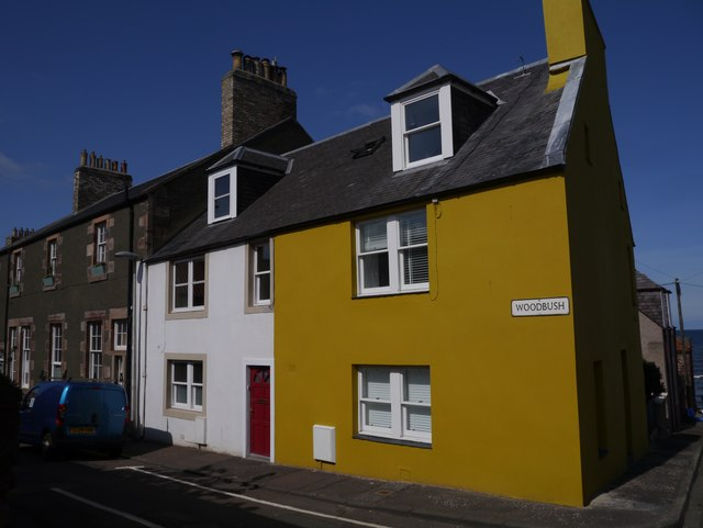 Brightly Painted Houses at Woodbush Dunbar