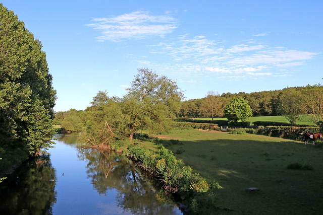River Trent and farmland near Little Haywood in Stafforhire