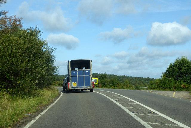 Bend on A323 Fleet Road