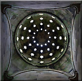 NT6126 : Looking up to the domed roof of the Monteath Mausoleum by Walter Baxter