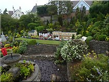 SX9265 : Thatched house on fire, Babbacombe Model Village by David Smith