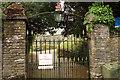 SX8648 : Gates to churchyard, Stoke Fleming by Derek Harper