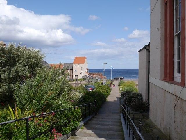 Steps leading to East Beach Dunbar