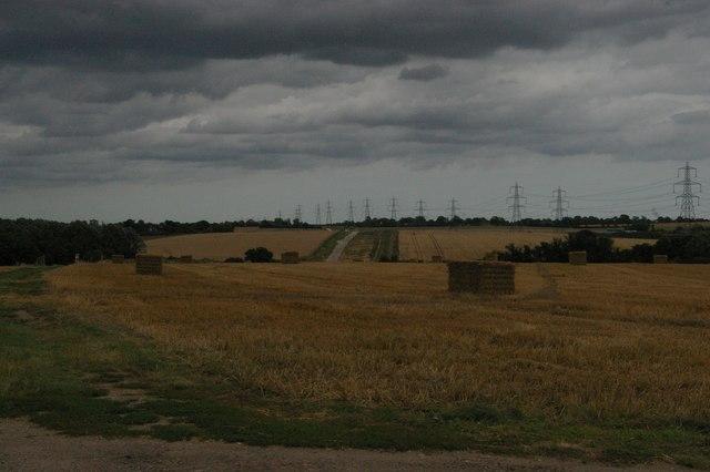 View east near Bower Farm