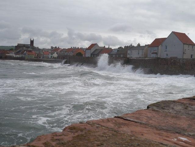 Huge Waves at High Tide Dunbar