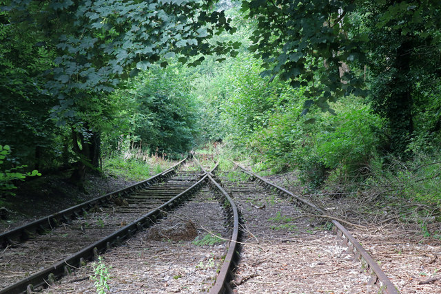 Tanat Valley Light Railway - overgrown