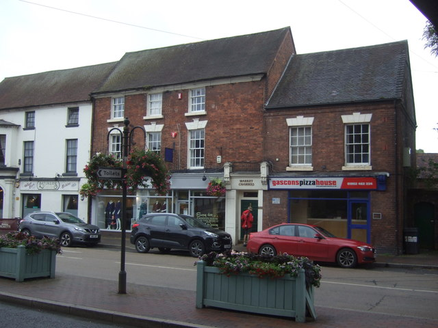Businesses on Market Place (A464), Shifnal