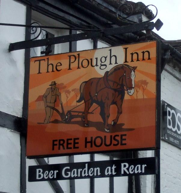 Sign for the Plough Inn, Shifnal