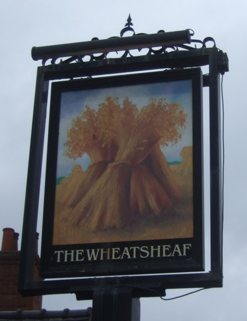 Sign for the Wheatsheaf, Shifnal