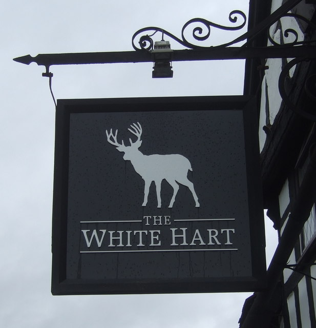 Sign for the White Hart, Shifnal