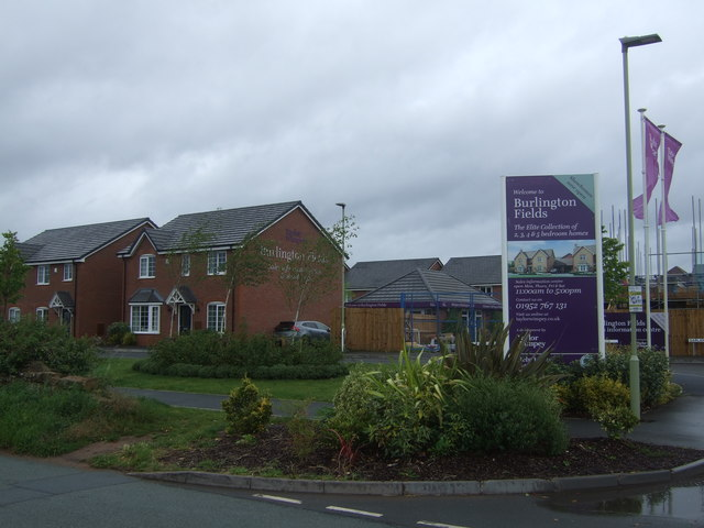 New houses, Garland Place, Shifnal