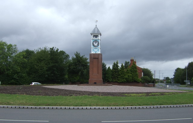 Clock tower on Clock Tower Roundabout