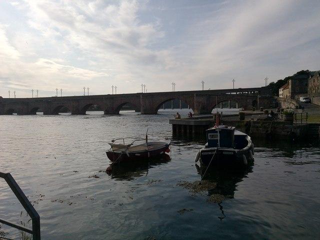 Berwick Bridge and Dock