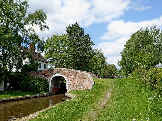 Canal at Wood End Lock near Fradley in Staffordshire