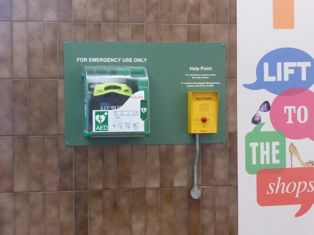 Defibrillator and help intercom