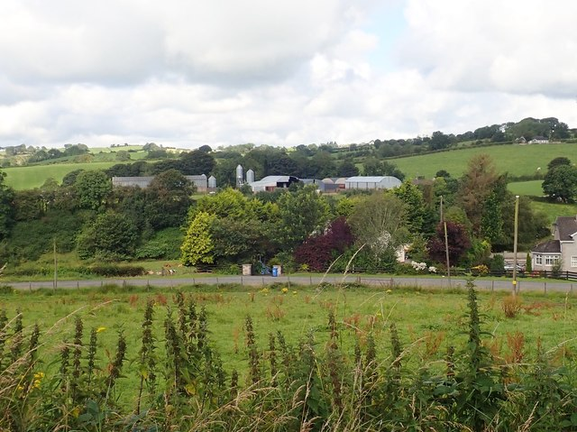 Farm buildings between the A29 (Dundalk Road) and the A25 (Blaney Road)