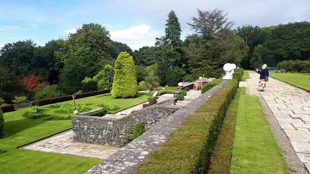 The gardens at Glenapp Castle hotel