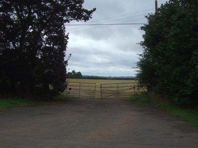 Field entrance off Limekiln Lane, Lilleshall