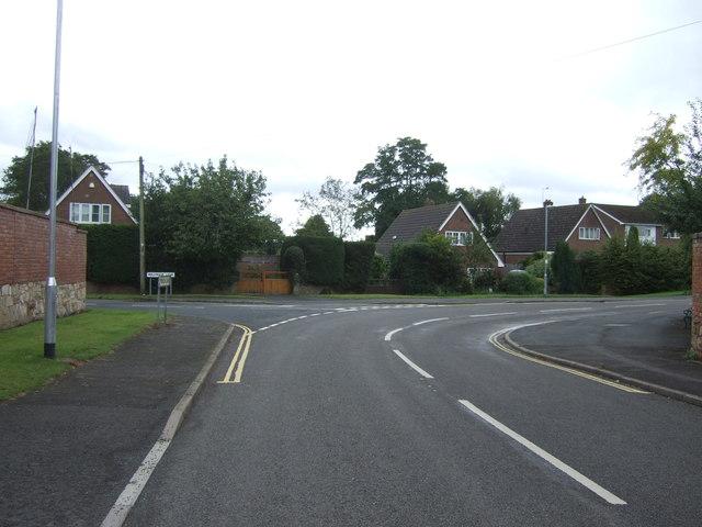 Bend on Limekiln Lane, Lilleshall