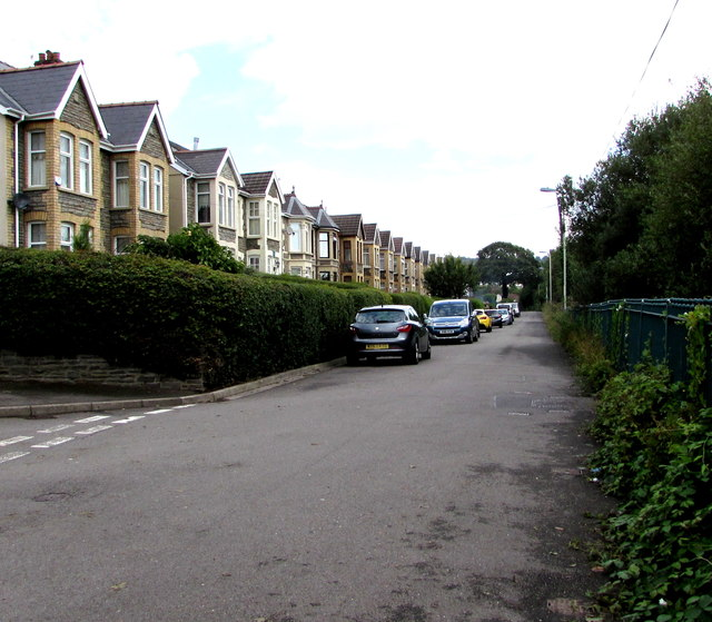 On-street parking, Gwerthonor Road, Gilfach by Jaggery