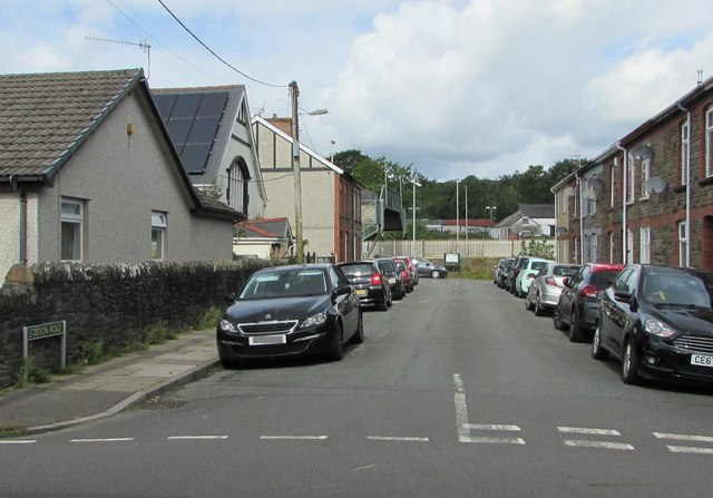 Station Road towards Pengam railway station