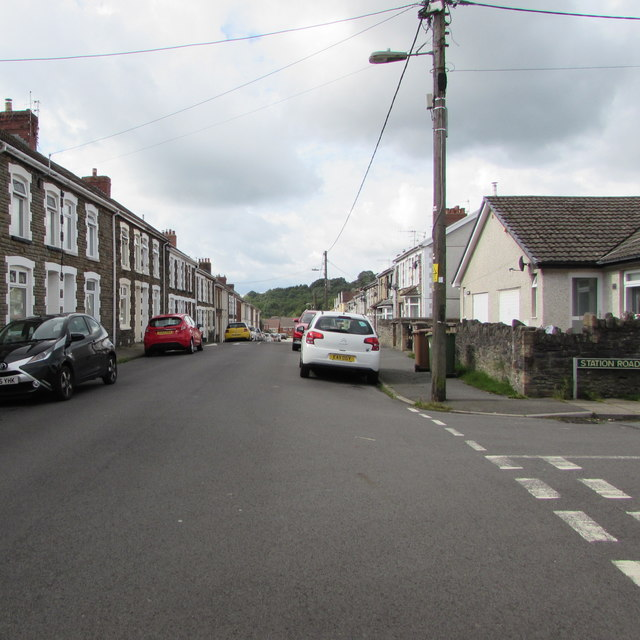 Pengam Street south of Station Road, Glan-y-nant, Pengam