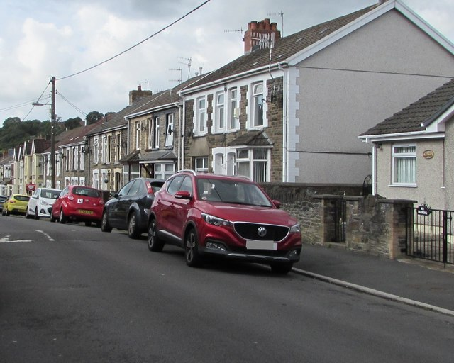 Cars and houses, Pengam Street, Glan-y-nant, Pengam by Jaggery