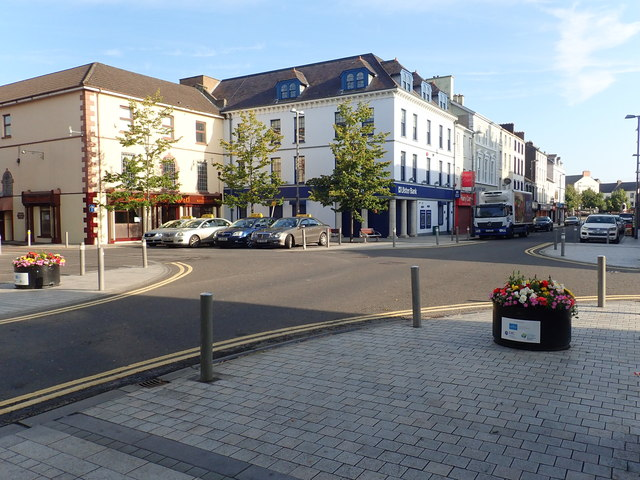 The Hill Street/Margaret Street Cross Roads in Newry