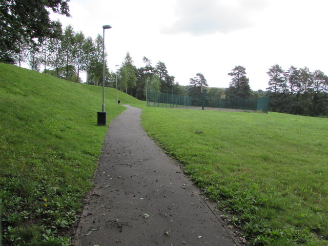 Path towards Lewis School Pengam by Jaggery