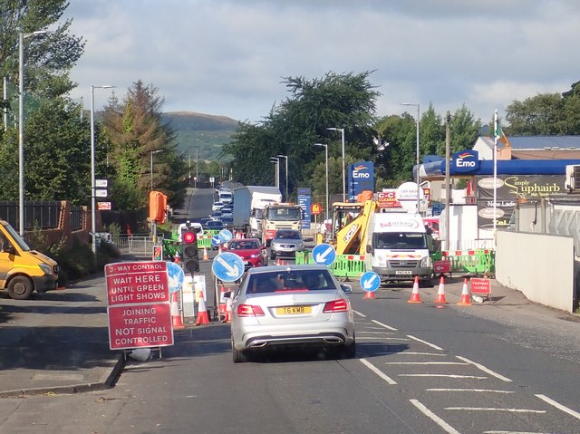 Road works on the A25 at Camlough, South Armagh