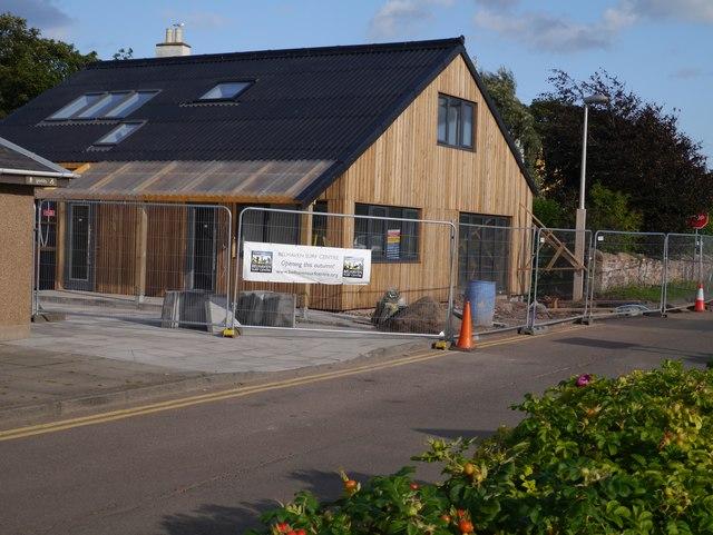 Building Belhaven Surf Centre near Dunbar