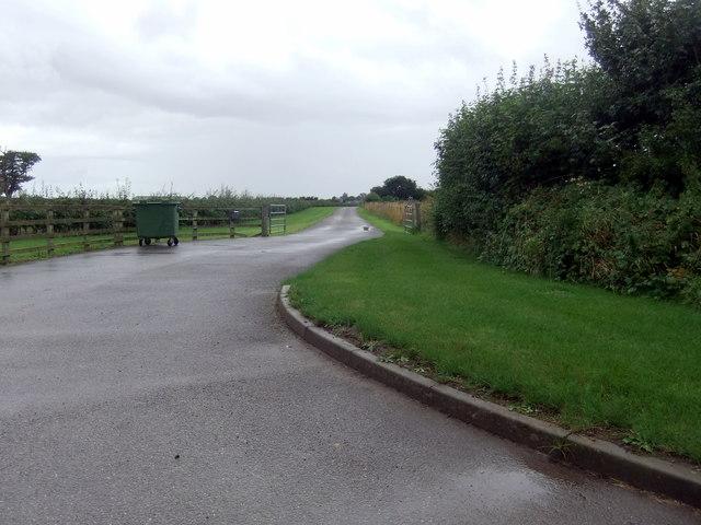 Farm entrance near Wheldrake