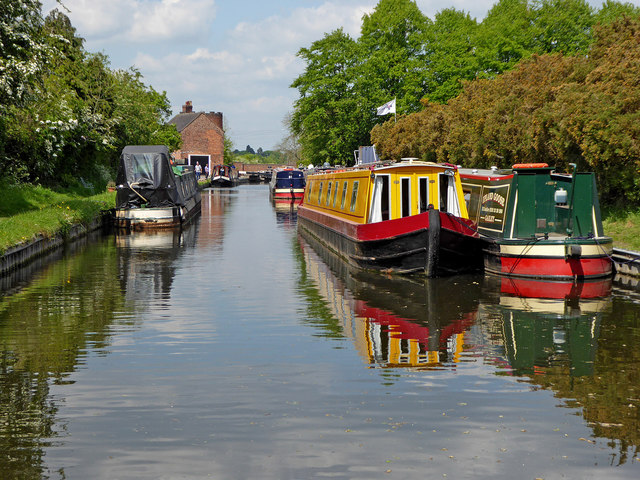 Canal at Gailey in Staffordshire