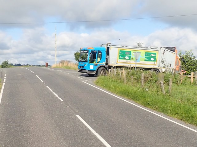 Newry Mourne Down bin lorry at Irwin's Cross Roads