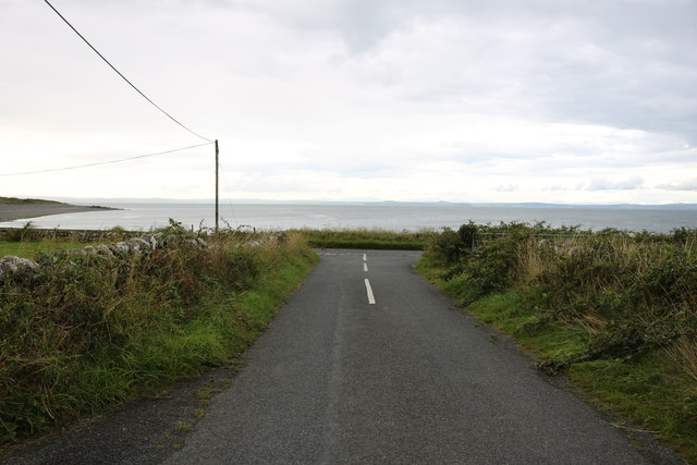 Approaching the A716 at Terally Bay